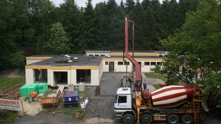 Vogelperspektive vom Umbau beim Haus Sonnenwinkel