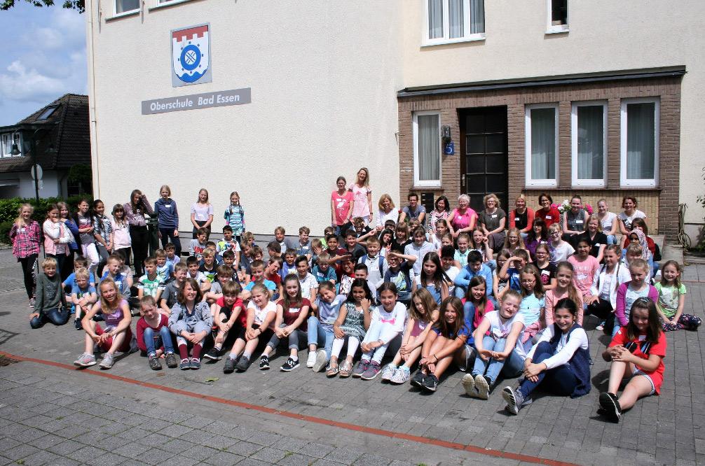 Gruppenfoto der Schüler der Oberschule Bad Essen