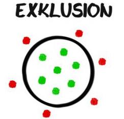 Bildliche Darstellung von Exklusion
