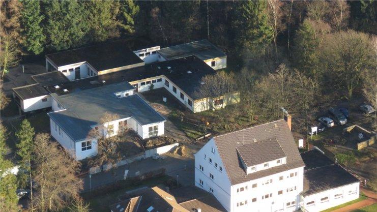 Aufnahme vom Haus Sonnenwinkel aus der Luft